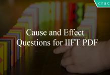 Cause and Effect Questions for IIFT PDF