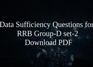 Data Sufficiency Questions for RRB Group-D set-2 PDF
