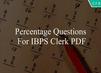 percentage questions for ibps clerk pdf