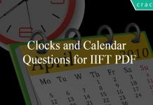 Clocks and Calendar Questions for IIFT PDF