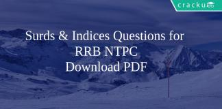 Surds & Indices Questions for RRB NTPC PDF