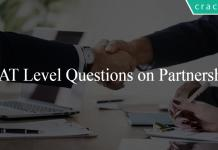 CAT Level Questions on Partnership