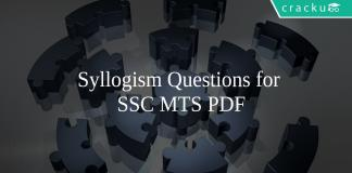 Syllogism Questions for SSC MTS PDF
