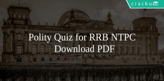Polity Quiz for RRB NTPC PDF