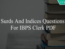 surds and indices questions for ibps clerk pdf