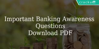 Important Banking Awareness Questions