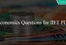 Economics Questions for IIFT PDF