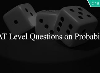 CAT Level Questions on Probability