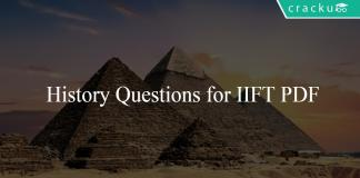 History Questions for IIFT PDF