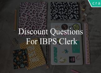 discount questions for ibps clerk