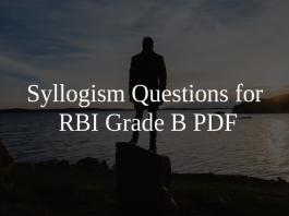 Syllogism Questions for RBI Grade B PDF