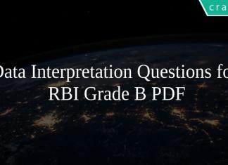 Data Interpretation Questions for RBI Grade B PDF