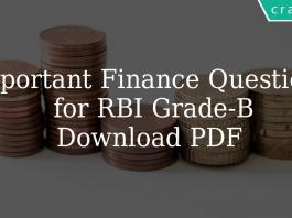 Important Finance Questions for RBI Grade-B