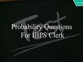 probability questions for ibps clerk