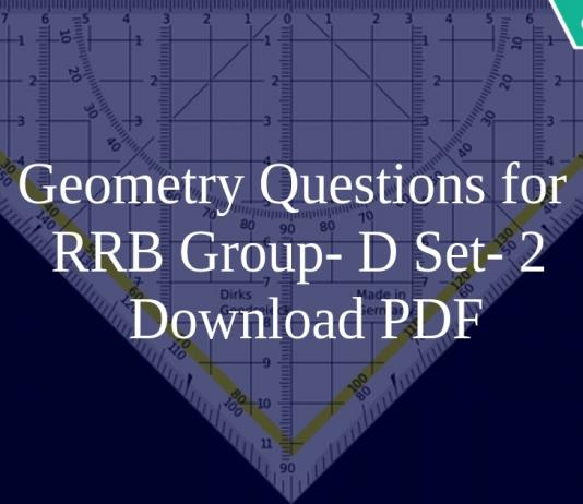 Geometry Questions for RRB Group- D Set- 2 PDF