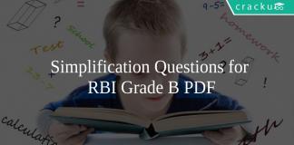 Simplification Questions for RBI Grade B PDF