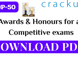TOP-50 Questions on Awards & Honours