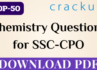 SSC-CPO || TOP-50 Chemistry Questions