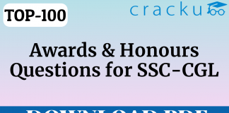 Questions on Awards and Honours for SSC-CGL