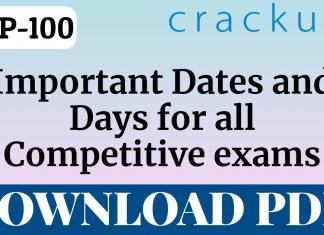 TOP-100 Important Dates and Days for all Competitive Exams