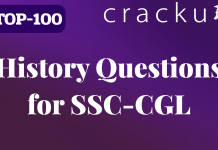 History Questions for SSC-CGL