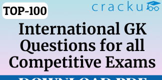TOP-100 International GK Questions for All Competitive Exams