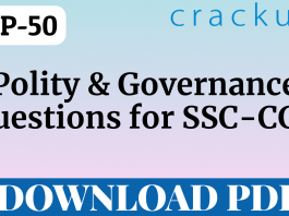 TOP-50 Polity and Governance Questions || SSC-CGL
