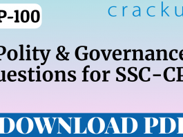 TOP-100 Polity and Governance Questions PDF