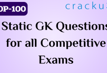 TOP-100 Questions on Static GK for all Competitive Exams
