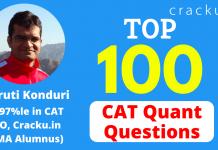 Top-100 CAT Quant Questions