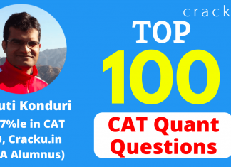 Top-100 CAT Quant Questions