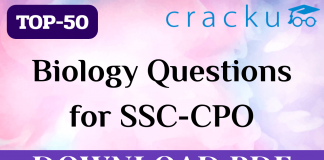 TOP-50 Biology Questions for SSC CPO