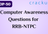 TOP-50 Computer Awareness Questions for RRB-NTPC