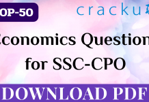 TOP-50 Economics Questions for SSC-CPO