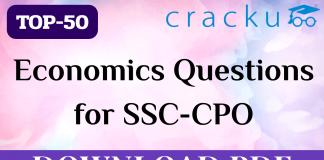 TOP-50 Economics Questions for SSC-CPO