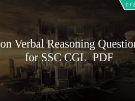 Non Verbal Reasoning Questions for SSC CGL PDF