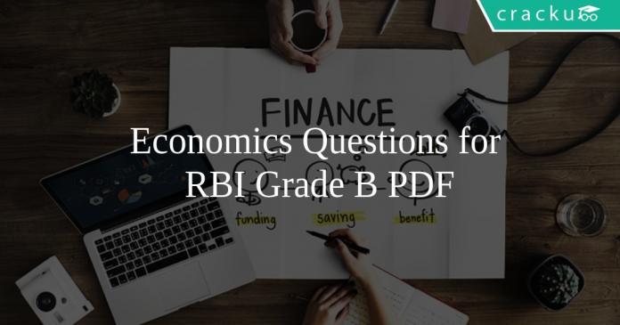 Economics Questions for RBI Grade B PDF