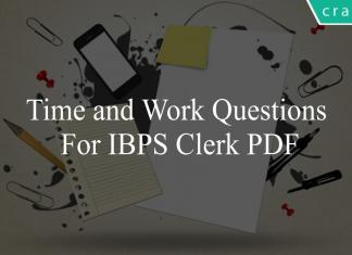 time and work questions for ibps clerk pdf