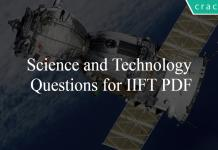 Science and Technology Questions for IIFT PDF
