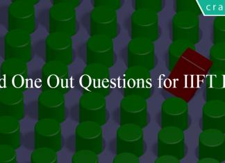 Odd One Out Questions for IIFT PDF
