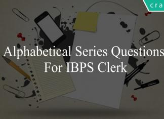 alphabetical series questions for ibps clerk