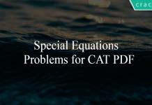 Special Equations Problems for CAT PDF