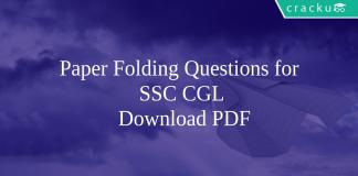 Paper Folding Questions for SSC CGL PDF