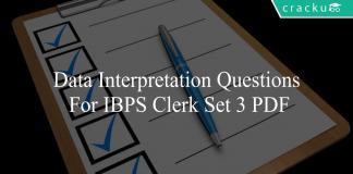 data interpretation questions for ibps clerk set 3 pdf
