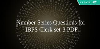 Number Series Questions for IBPS Clerk set-3 PDF