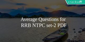 Average Questions for RRB NTPC set-2 PDF