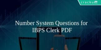 Number System Questions for IBPS Clerk PDF