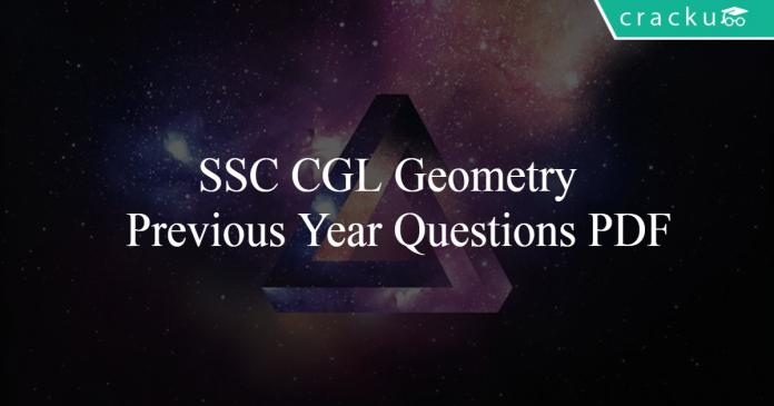 SSC CGL Geometry Previous Year Questions PDF