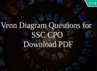Venn Diagram Questions for SSC CPO PDF