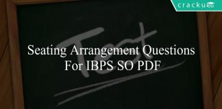 seating arrangement questions for ibps so pdf